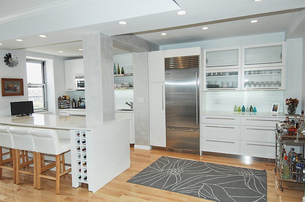 Open Kitchen Plan Midtown Manhattan Klein Kitchen Bath Best Kitchen Remodeling New York Plans
