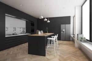 Dark Black Kitchen