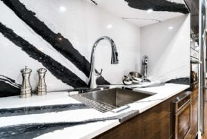 Striped kitchen